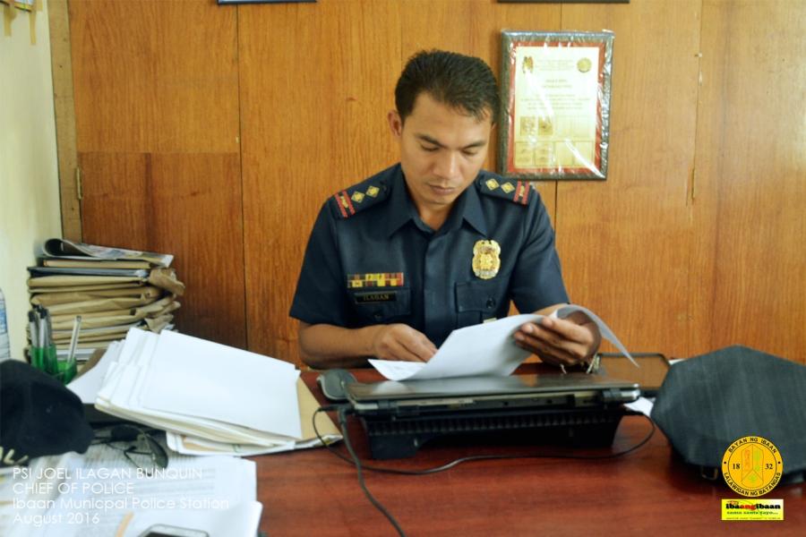 Police Senior Inspector Joel Ilagan Bunquin.